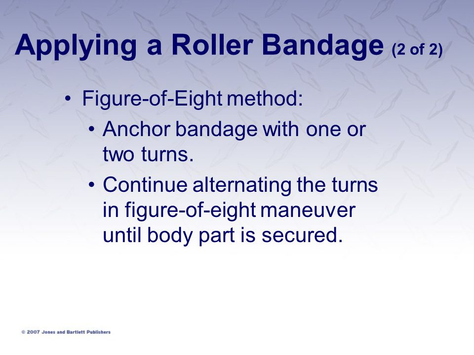 Applying a Roller Bandage (2 of 2)