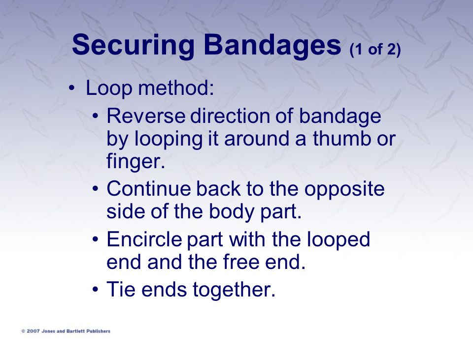 Securing Bandages (1 of 2)