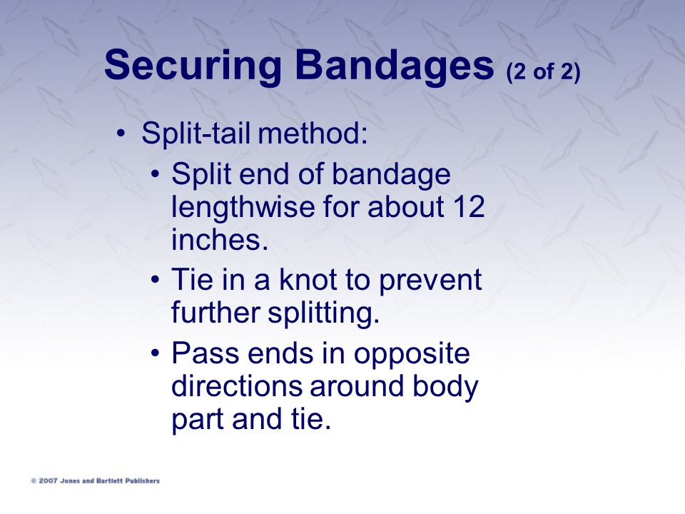Securing Bandages (2 of 2)