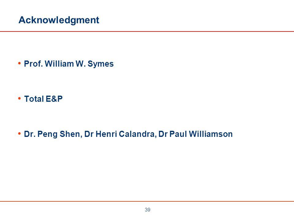 Acknowledgment Prof. William W. Symes Total E&P