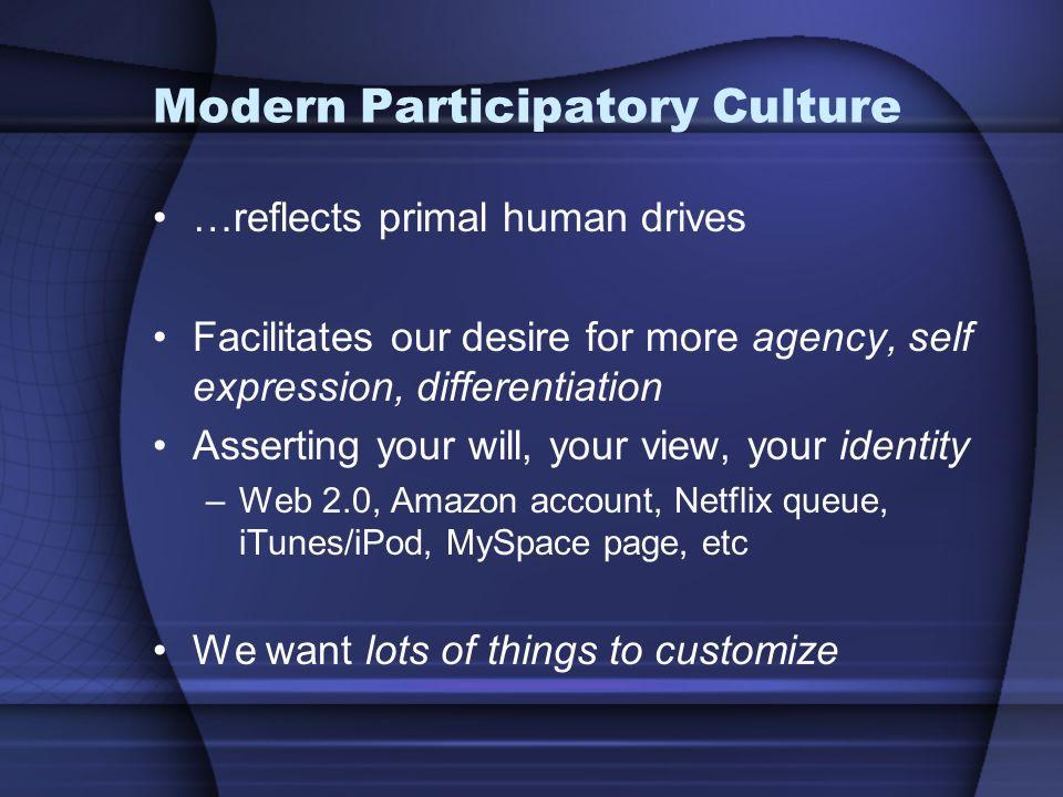 Modern Participatory Culture