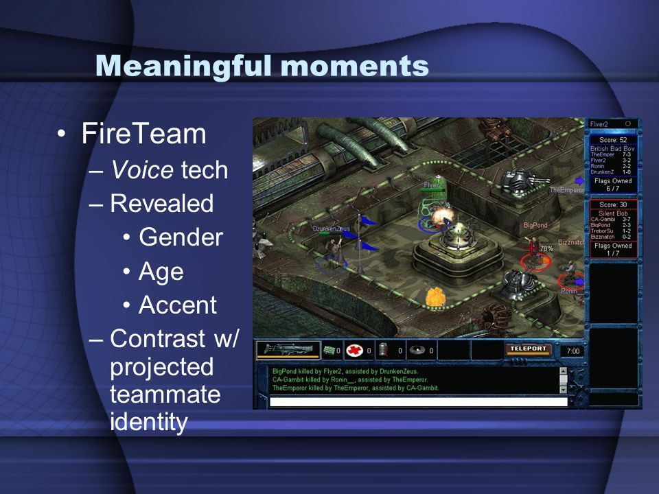 Meaningful moments FireTeam Voice tech Revealed Gender Age Accent