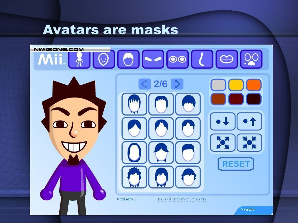 Avatars are masks