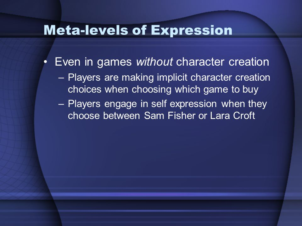 Meta-levels of Expression