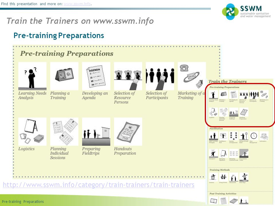 Train the Trainers on www.sswm.info