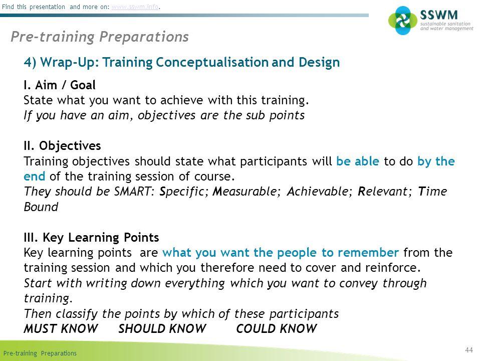 Pre-training Preparations
