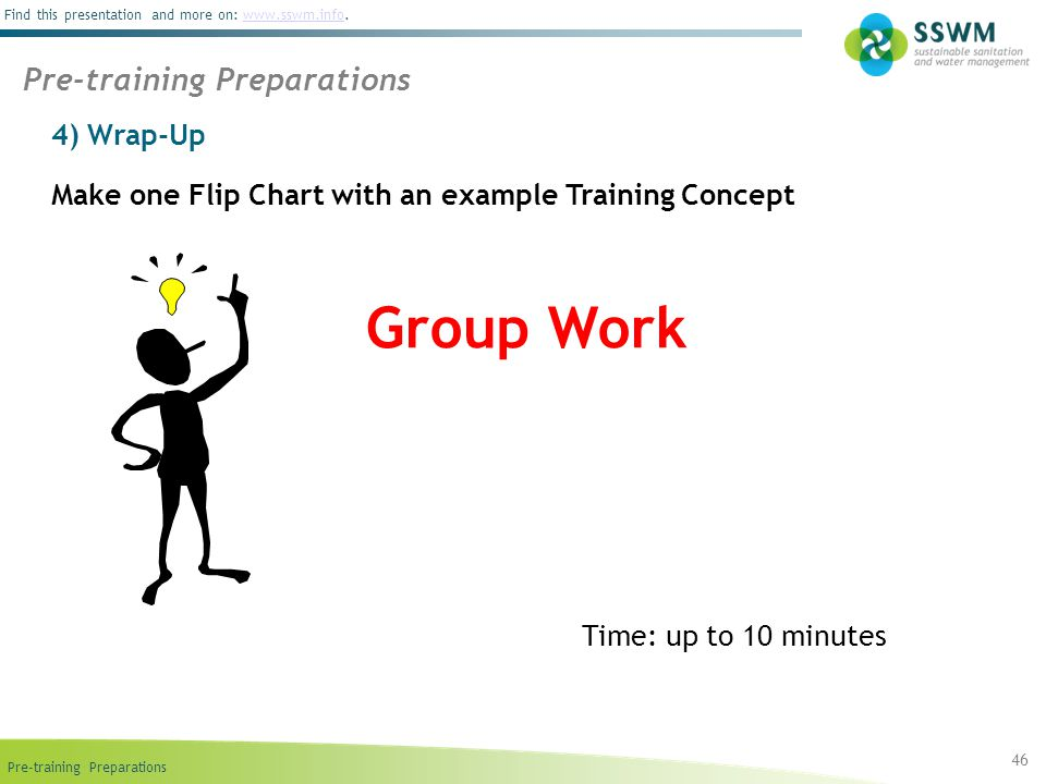 Group Work Pre-training Preparations 4) Wrap-Up