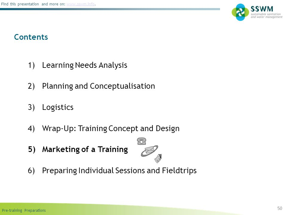 Learning Needs Analysis Planning and Conceptualisation Logistics