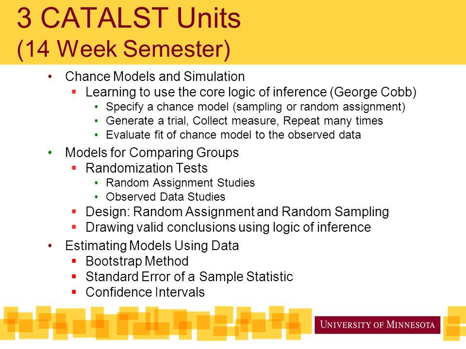 3 CATALST Units (14 Week Semester)