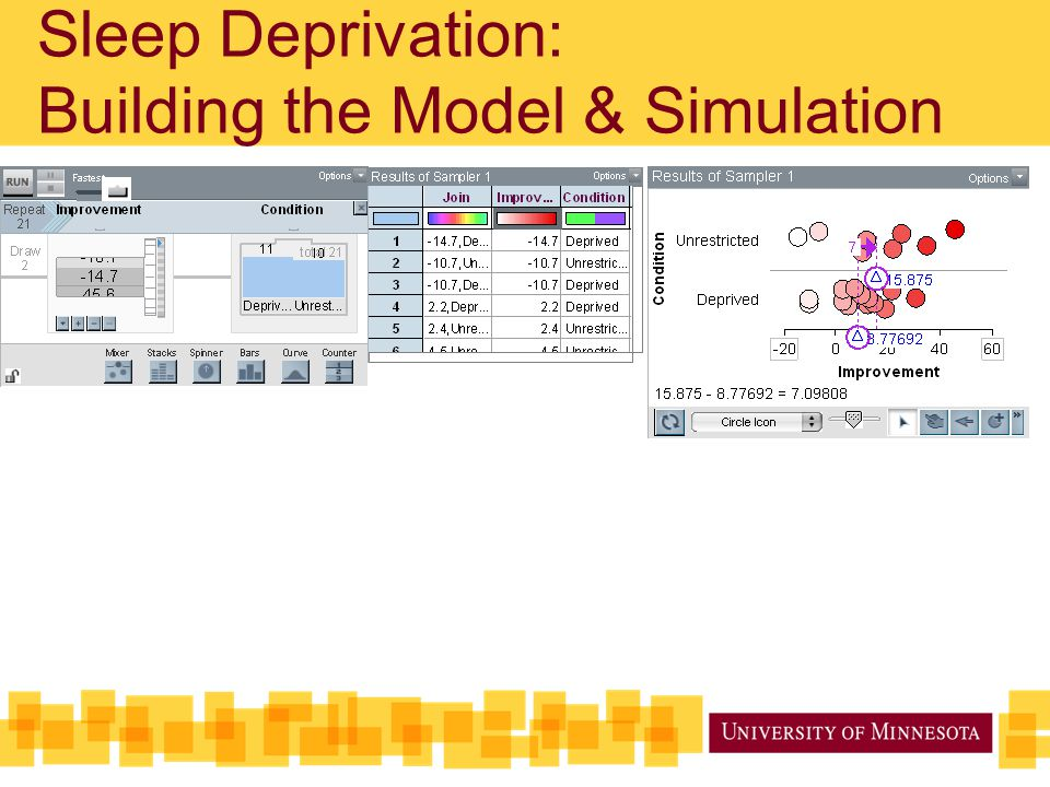 Sleep Deprivation: Building the Model & Simulation