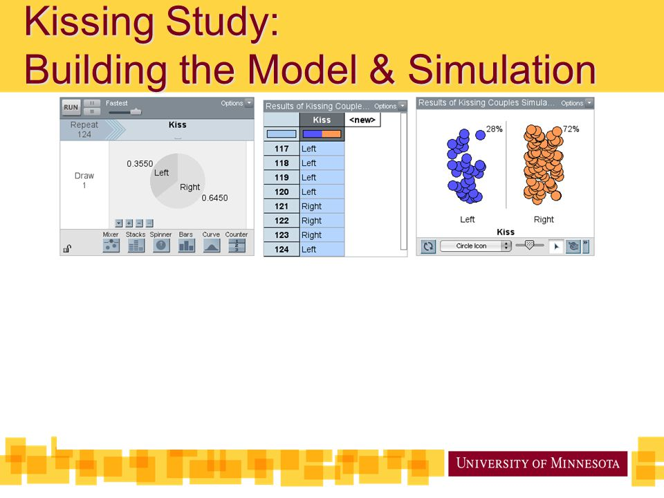 Kissing Study: Building the Model & Simulation