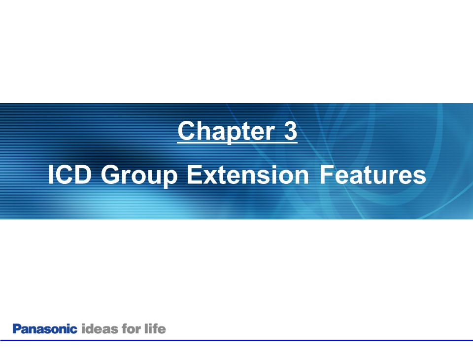 ICD Group Extension Features