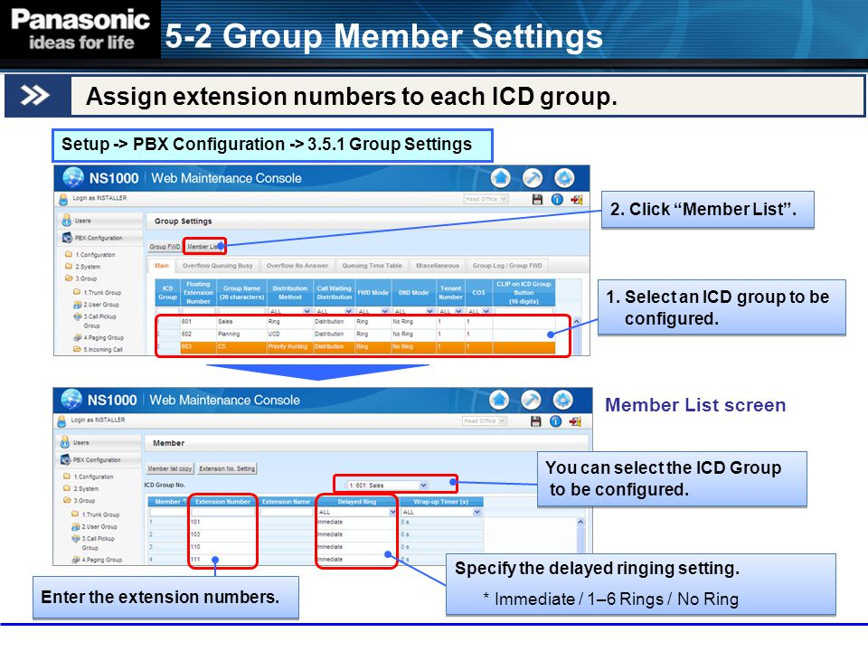 5-2 Group Member Settings