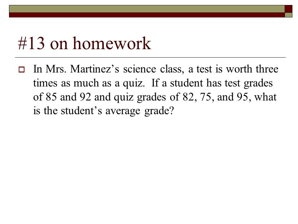 #13 on homework