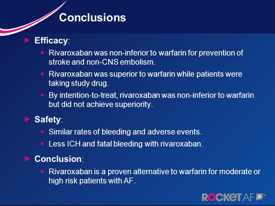 Conclusions Efficacy: Safety: Conclusion: