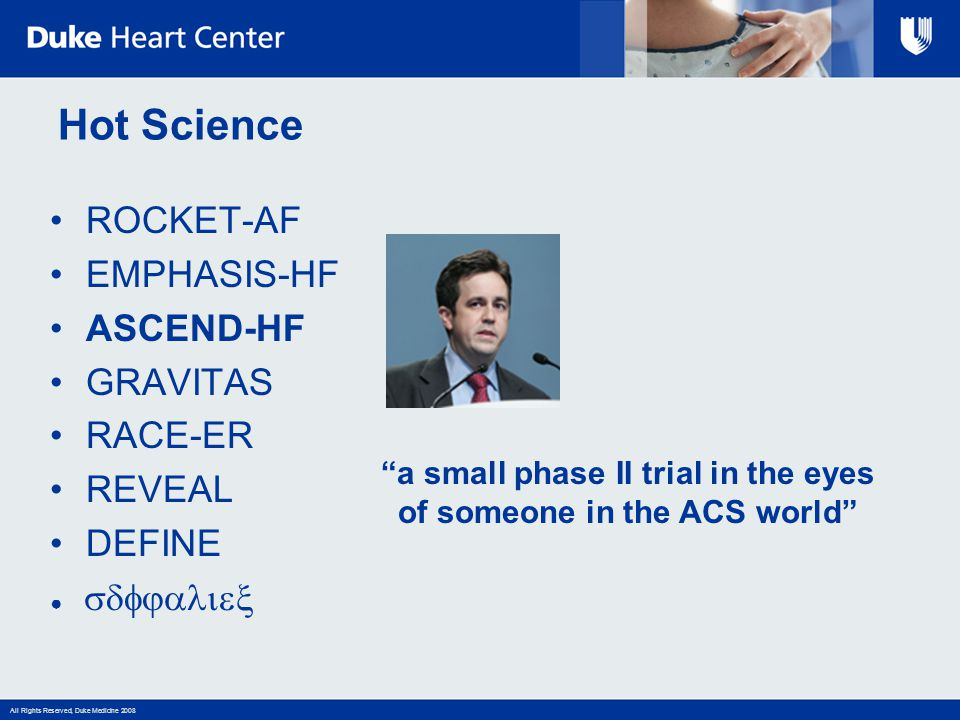 a small phase II trial in the eyes of someone in the ACS world