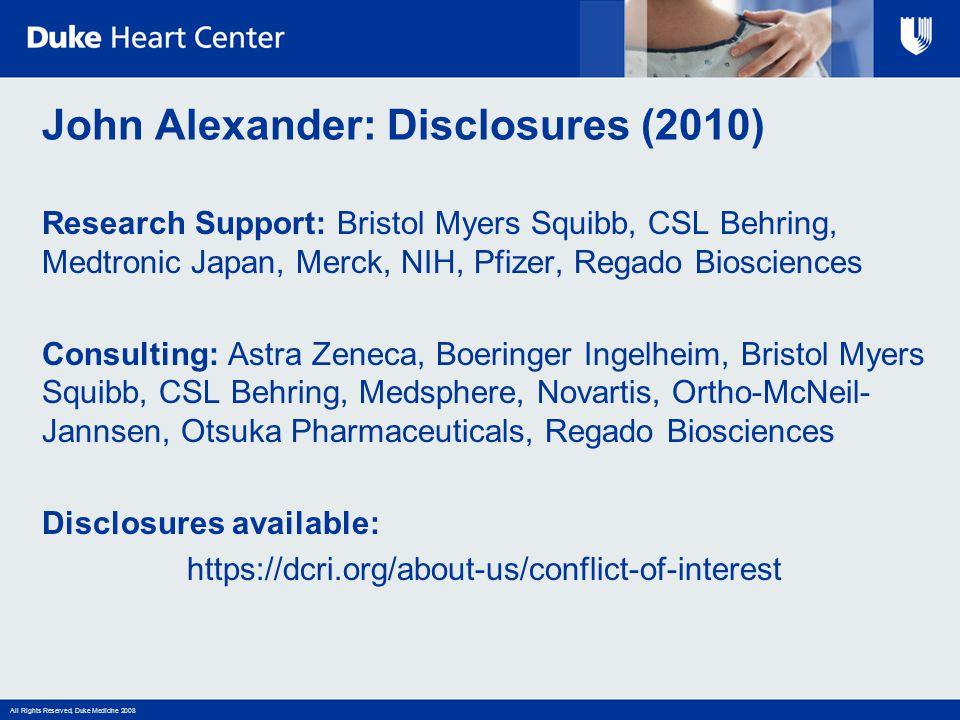 John Alexander: Disclosures (2010)