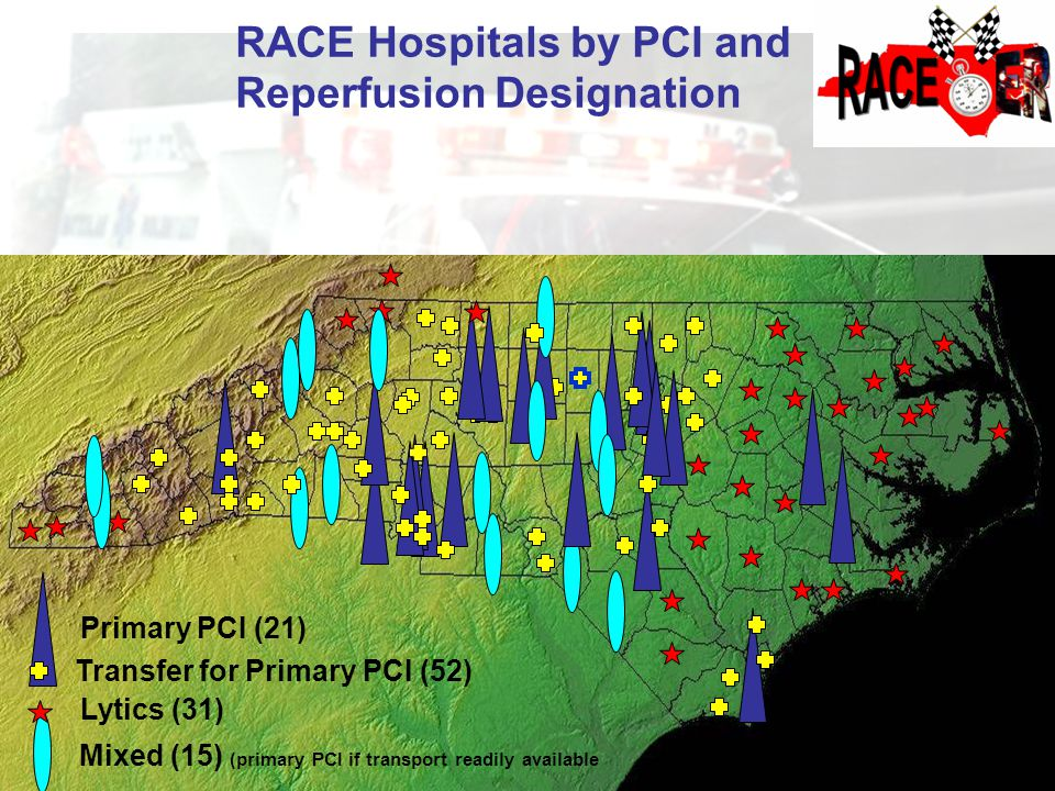 RACE Hospitals by PCI and Reperfusion Designation