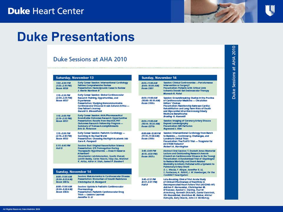 Duke Presentations