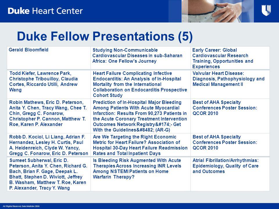 Duke Fellow Presentations (5)