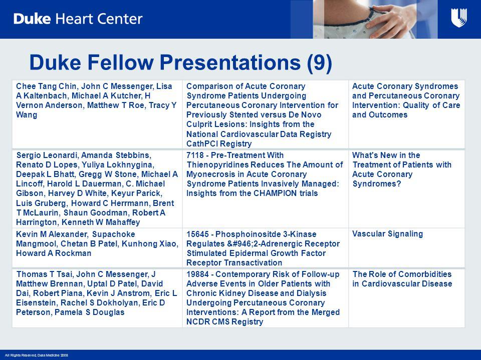 Duke Fellow Presentations (9)