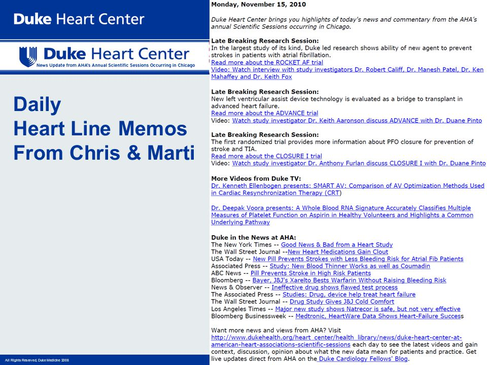 Daily Heart Line Memos From Chris & Marti