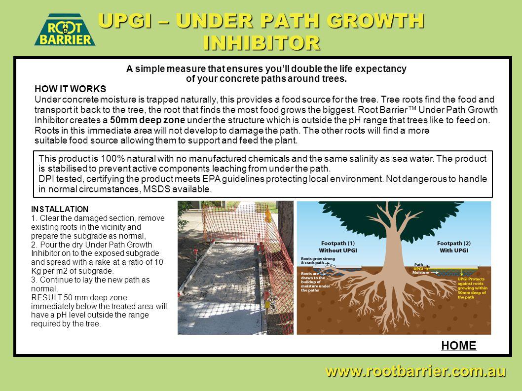 UPGI – UNDER PATH GROWTH INHIBITOR