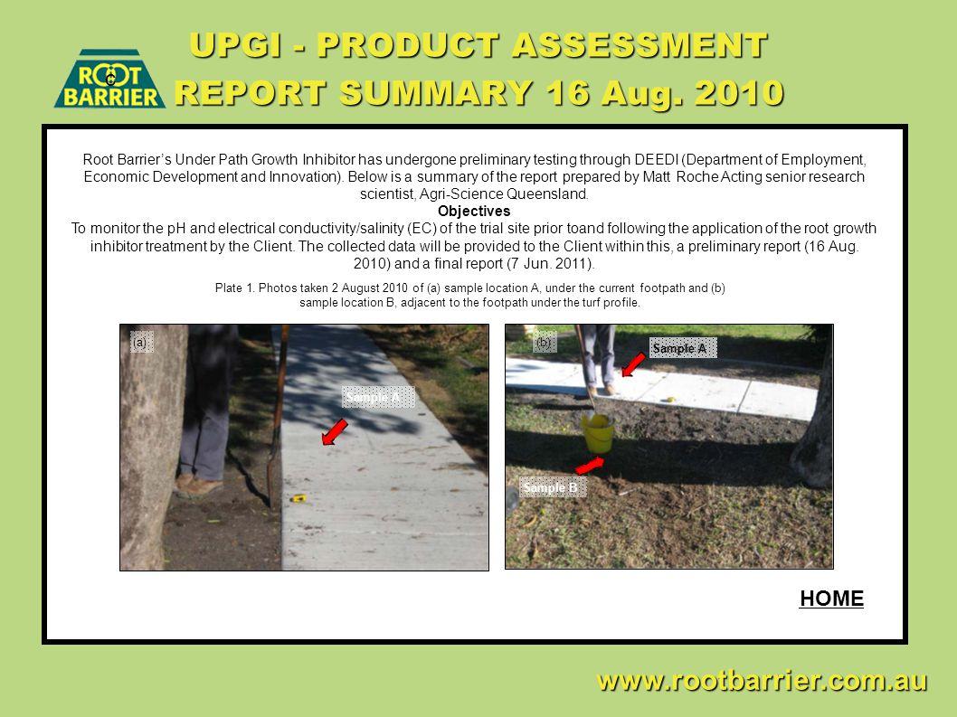 UPGI - PRODUCT ASSESSMENT REPORT SUMMARY 16 Aug. 2010