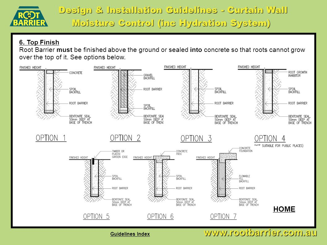 Design & Installation Guidelines - Curtain Wall Moisture Control (inc Hydration System)