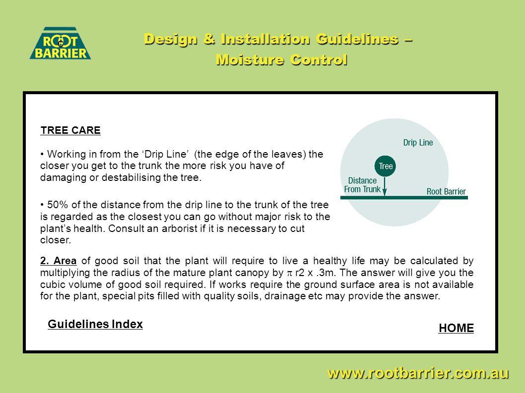 Design & Installation Guidelines – Moisture Control