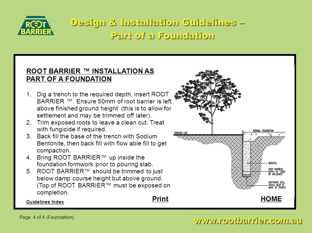 Design & Installation Guidelines – Part of a Foundation