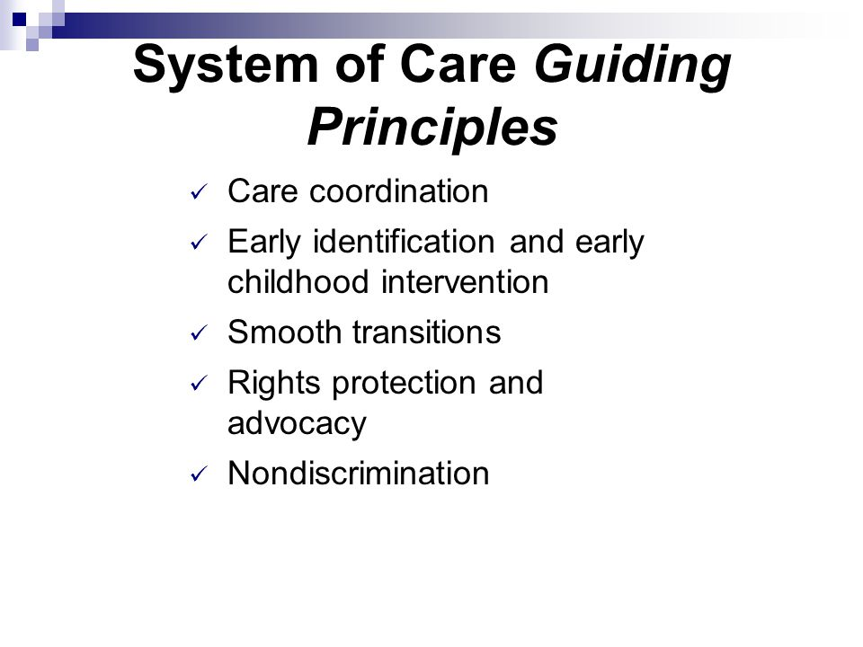System of Care Guiding Principles