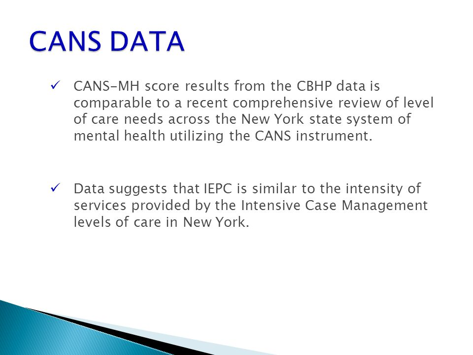 CANS DATA