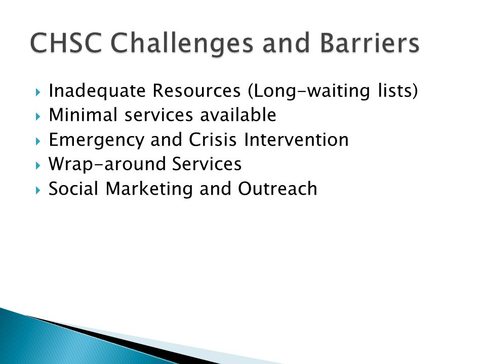 CHSC Challenges and Barriers