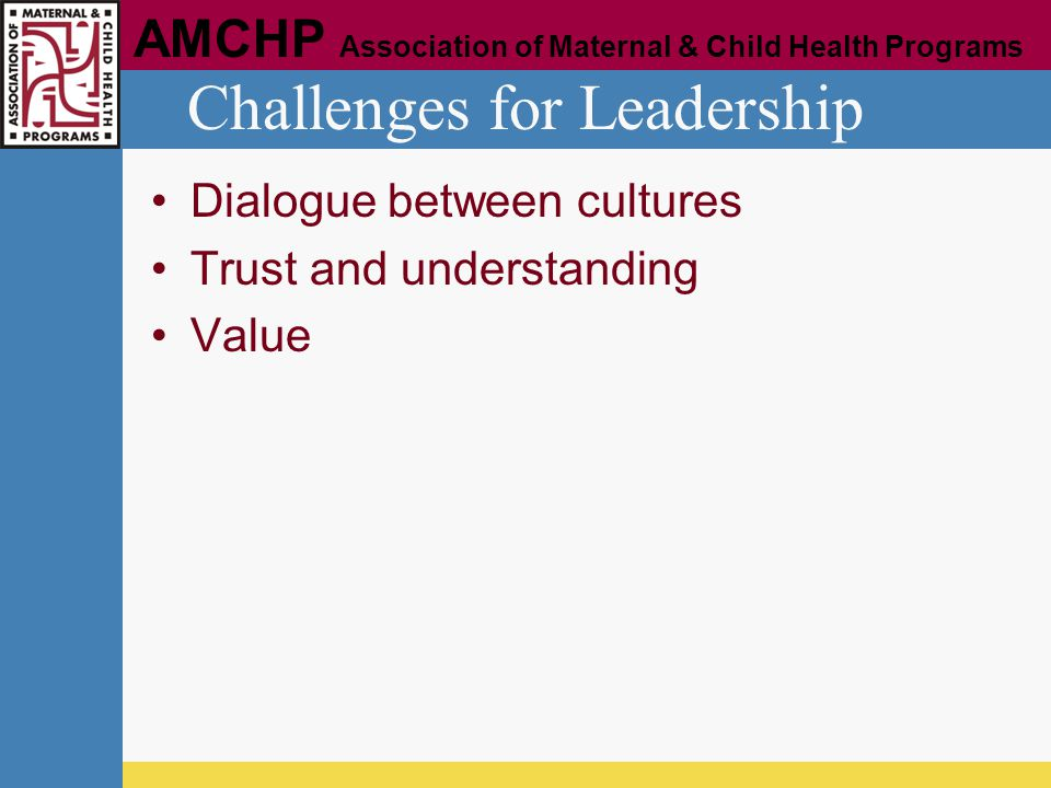 Challenges for Leadership