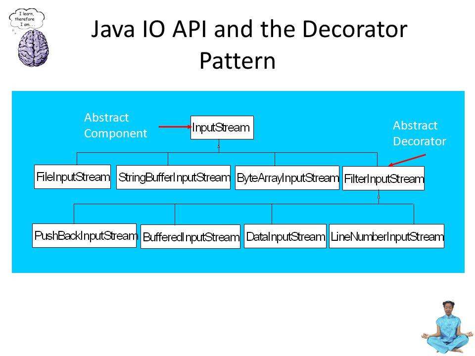 Java IO API and the Decorator Pattern