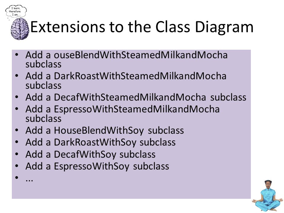 Extensions to the Class Diagram
