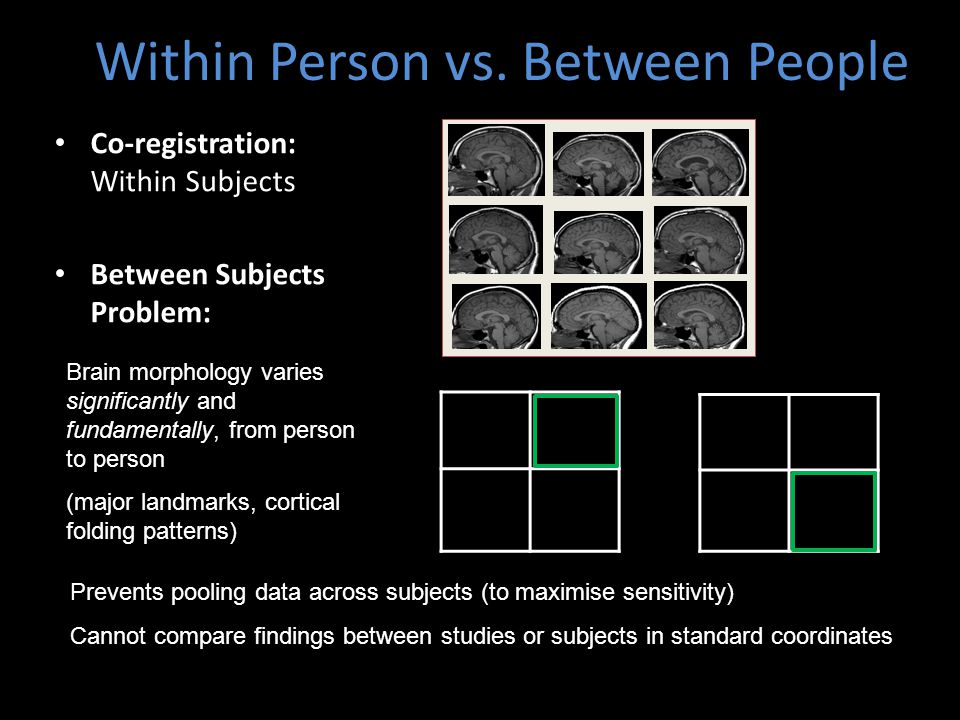 Within Person vs. Between People