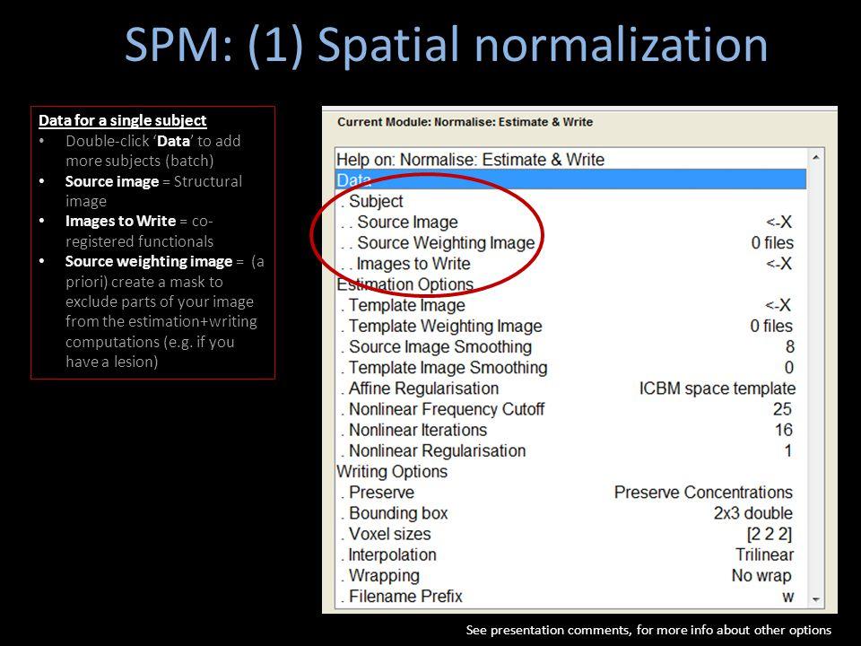 SPM: (1) Spatial normalization