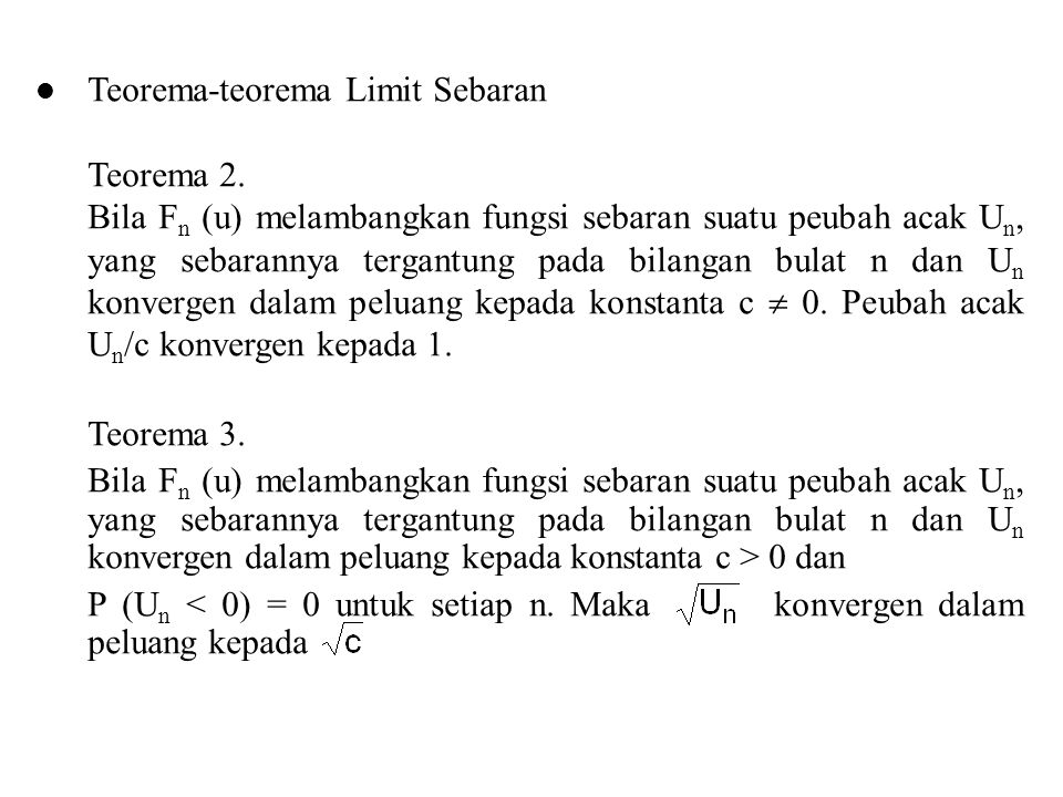 Teorema-teorema Limit Sebaran