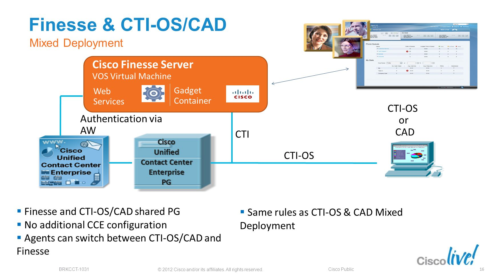 Finesse & CTI-OS/CAD Cisco Finesse Server Mixed Deployment