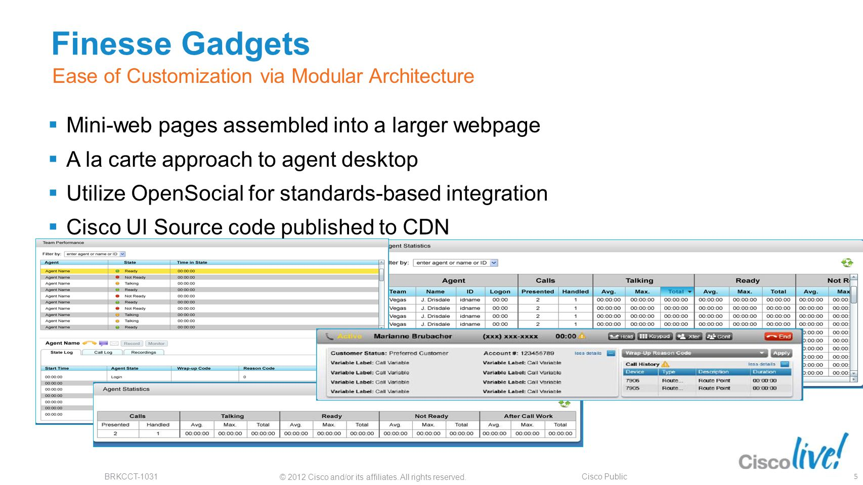 Finesse Gadgets Mini-web pages assembled into a larger webpage