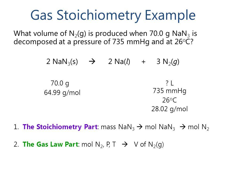 Gas Stoichiometry Example