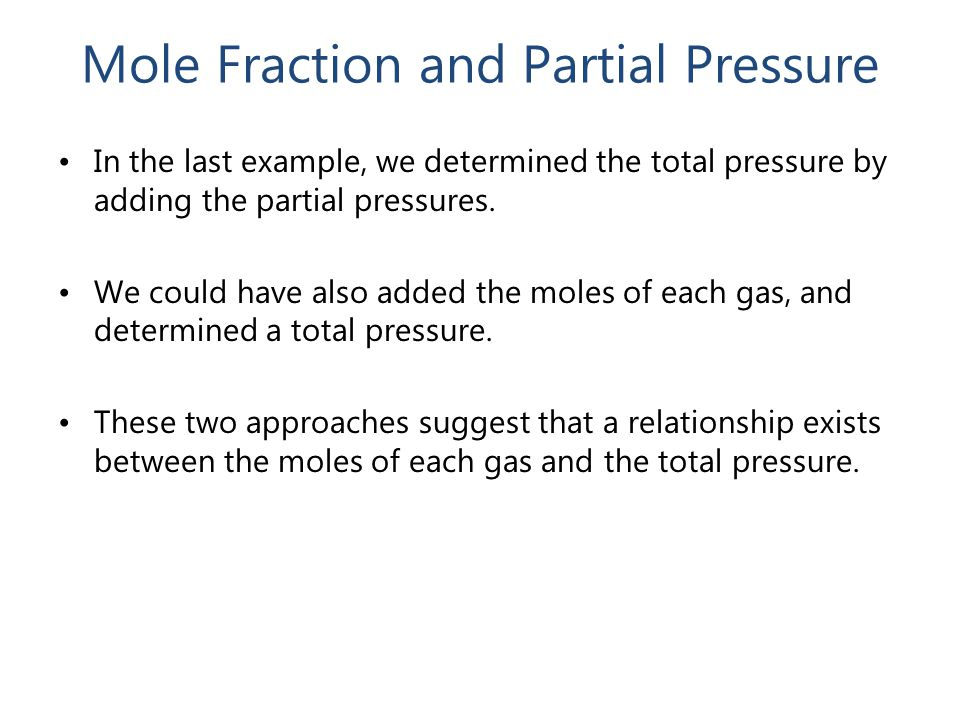 pressure and number of moles relationship advice