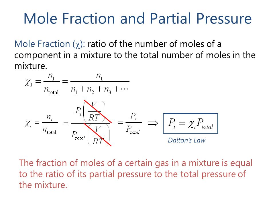 Mole Fraction and Partial Pressure