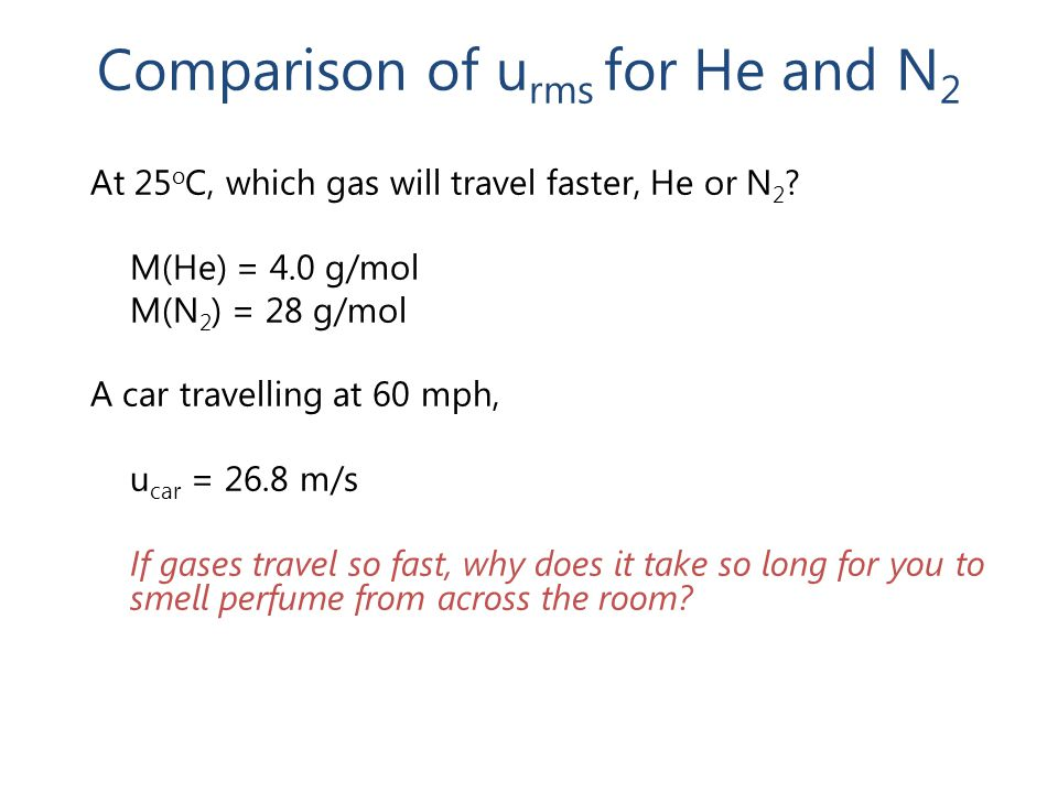 Comparison of urms for He and N2