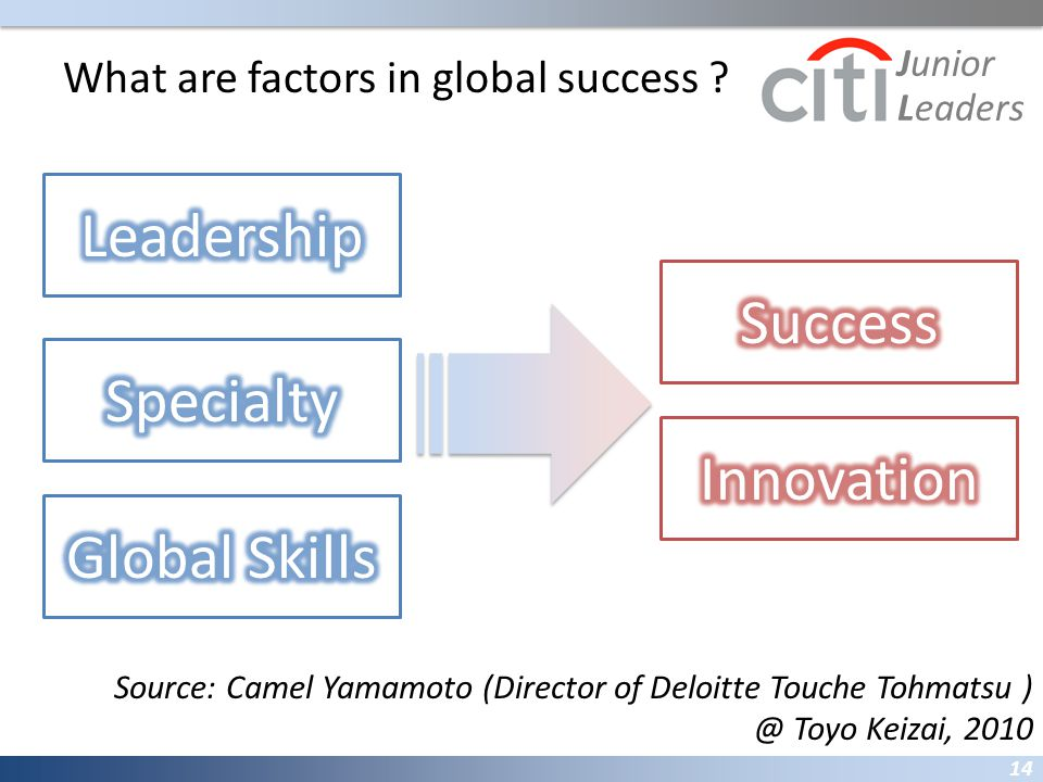 What are factors in global success