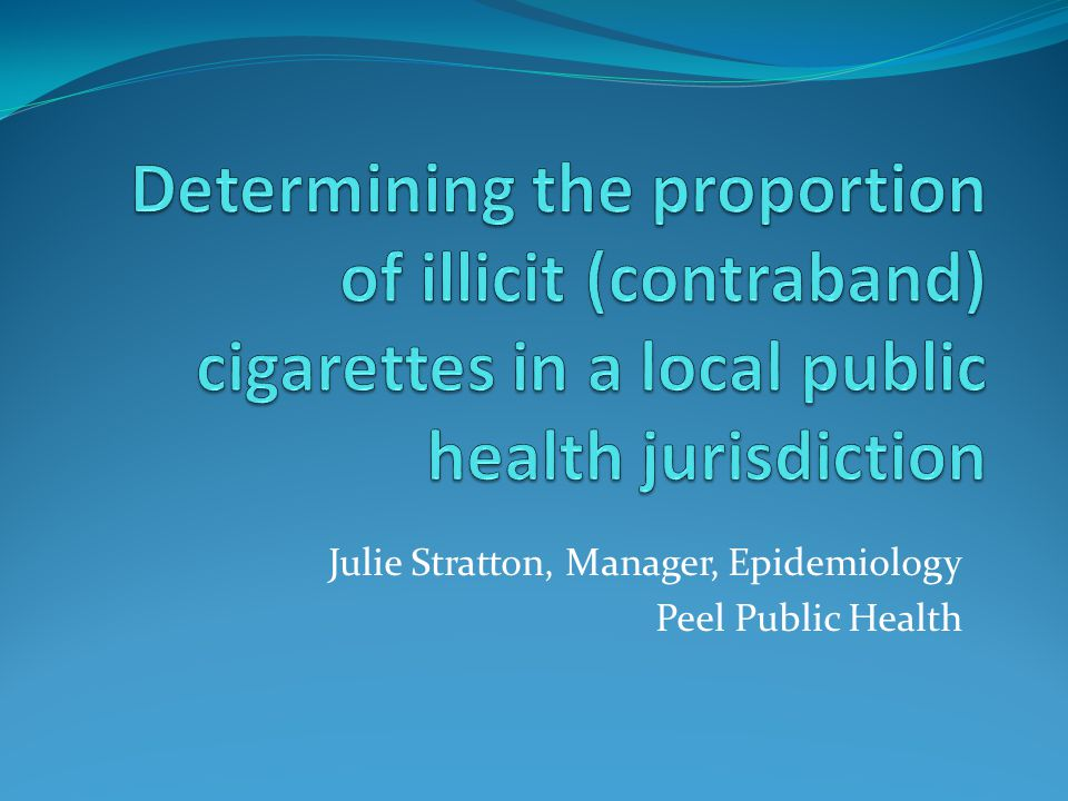 Julie Stratton, Manager, Epidemiology Peel Public Health