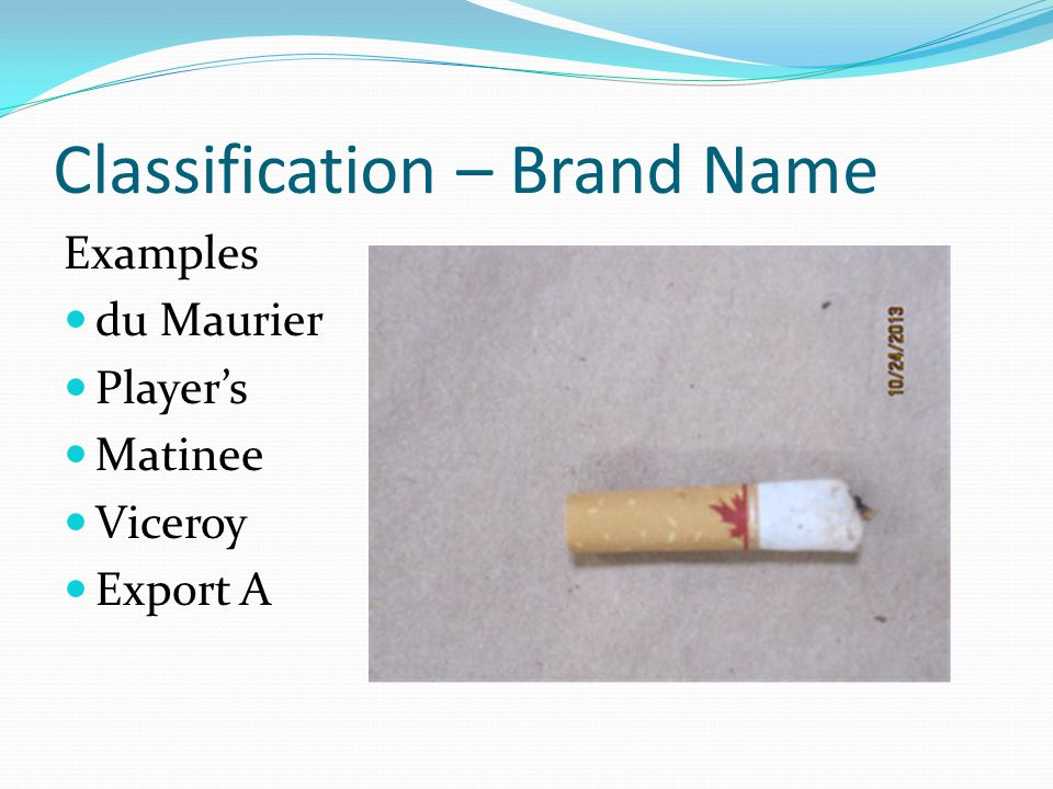 Classification – Brand Name