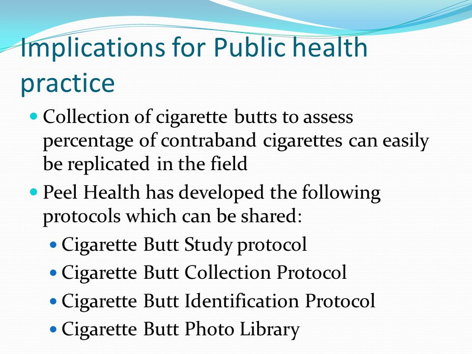 Implications for Public health practice